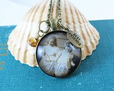 Custom Photo Pendant Necklace Design Your Own by GutsyGoodness