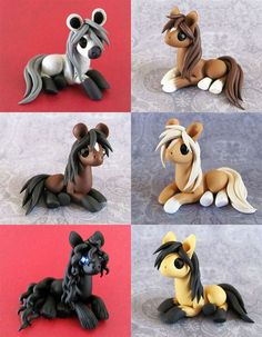 Natural Ponies by DragonsAndBeasties on deviantART -So cool! I would have LOVE t… Natural Ponies by DragonsAndBeasties on deviantART -So cool! I would have LOVE these as a child! Polymer Clay Kunst, Polymer Clay Figures, Cute Polymer Clay, Polymer Clay Animals, Cute Clay, Polymer Clay Charms, Polymer Clay Projects, Polymer Clay Creations, Diy Clay