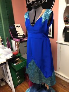 Silk and sequin party dress made by Cookie DuBois of Cookie DuBois Clothing Sequin Party Dress, Dress Making, Wrap Dress, Cookie, Sequins, Silk, Summer Dresses, Clothing, Fashion