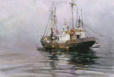Skagway Trawler, by Richard Schmid