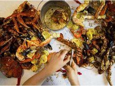 Honolulu's foremost Hawaiian-Cajun fusion restaurant hits the mainland Pulled Pork, Paella, Seafood, Restaurant, Ethnic Recipes, Lovers, Lifestyle, Blog, Travel