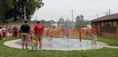 This splash pad in Indiana was installed by a contractor for this preschool daycare.