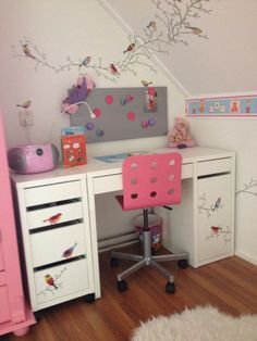 #bureau #ikea #meisjeskamer Kids And Parenting, Girls Bedroom, Office Desk, Corner Desk, Kids Room, Ikea, Projects To Try, New Homes, Nursery