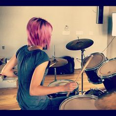 Shot taken from Bloom's Cause of Pain music video. Mapex drum set. Sabian cymbals. Vic Firth sticks. I love being a drummer. :)