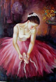 art ballet oil painting Oil paintings of ballet dancers  Ballet oil painting