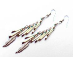 Porcupine Quill Tassel Duster Earrings - Authentic Native American by NativeCraftCanada on Etsy