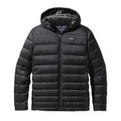Patagonia Men\'s Hi-Loft Down Sweater Hoody - Black BLK