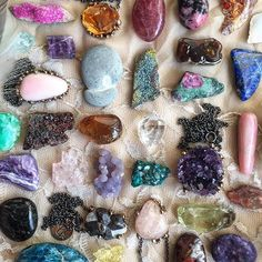 Amethyst, Pink opal, Morganite, Citrine, Staurolite , Nuummite, Rainbow Pyrite Crystal healing pendants | Crystal and gemstone healing jewels handmade in Italy by Giardinoblu^