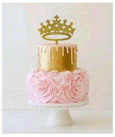 Birthday Cake Girls, First Birthday Cakes, Princess Birthday, Birthday Ideas, Baby Birthday, Gold Birthday Cake, Turtle Birthday, Turtle Party, Birthday Parties
