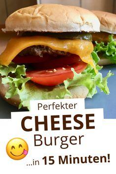 OptiGrill Rezepte // Cheeseburger selber machen - das geht ganz einfach und super schnell mit dem OptiGrill. Ob blutig, medium oder well-done - der Kontaktgrill brät das Fleisch nach eurem Geschmack. Und nach nur wenigen Minuten könnt ihr euren frisch zubereiteten Cheeseburger genießen. Guten Appetit! #Burger Cheese Burger, Super, Hot Dogs, Grilling, Beef, Snacks, American, Ethnic Recipes, Medium