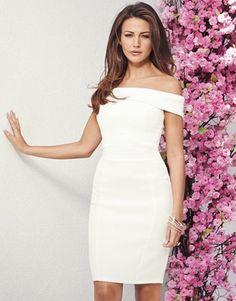 Michelle Keegan Textured Bardot Dress