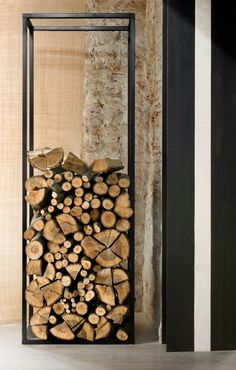 Industrial feel wood pile