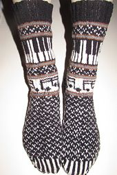 Ravelry: Musica: The Socks 2014 pattern by Deborah Tomasello