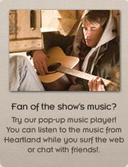 Try out pop-up music player!  Music from the Canadian TV show heartland using only independent Canadian musicians.