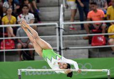 Dipa Karmakar representing India in the women's gymnastics at Rio 2016