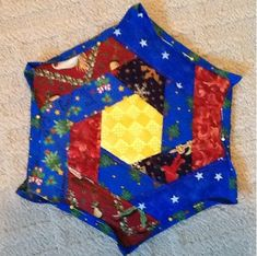 Quilt as you go Hexagon Hot Pad