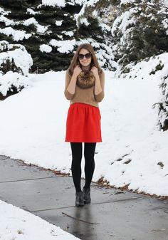 Season Remix: Red mini skirt