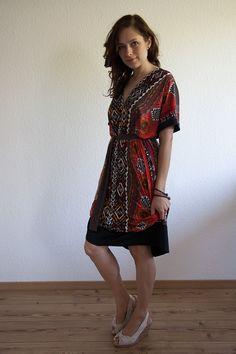 Einfaches (Maxi-)Kleid nach Schemaschnitt #nähen #Sommerlook