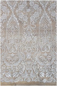 Heavy embroidered bridal lace Fabric off-white Lace Wedding