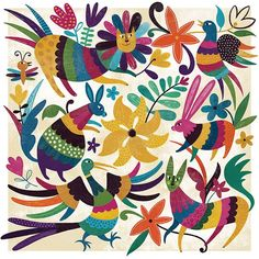 Mexican Embroidery, Folk Embroidery, Textile Patterns, Textile Art, Mexican Pattern, Mexico Art, Mexican Designs, Mexican Folk Art, Pattern Wallpaper