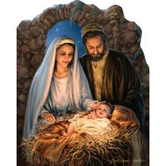"*Jesus is the reason for the season"" by Dona Gelsinger ~ Holy Family ~ Nativity Christmas Scenes, Christmas Nativity, Merry Christmas Jesus, Christmas Blessings, Jesus Christmas Images, Happy Birthday Jesus, Blessed Mother, Mother Mary, Jesus Mother"