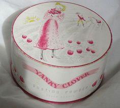 Vintage Original Richard Hudnut  Yanky Clover Dusting Powder Box Circa 1940s