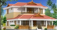 Modern Home Front Design Archives - Page 96 of 393 - Best Home Interior Design Village House Design, Kerala House Design, House Front Design, Cool House Designs, Modern House Design, Traditional Home Exteriors, Traditional House Plans, Indian House Plans, New House Plans