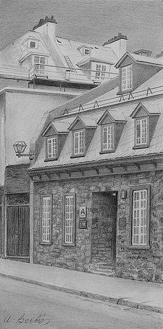 Wilfrid Barbier: St. Louis Street Québec City