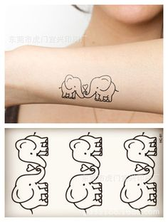 winter strand kleine tijdelijke tattoo stickers wateproof vrouwen mannen cartoon paar olifant sex body art producten