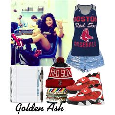 Red Sox, created by fashionsetstyler on Polyvore