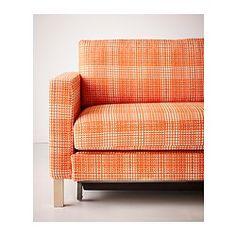 KARLSTAD Sofa bed for the playroom/guestroom -Husie orange or light gray - IKEA