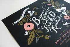Wedding Stationery Inspiration: White on Black