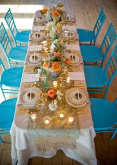 maine blue and coral weddings -