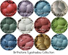 Eye Shadow Mineral,12 Birthstone Collection
