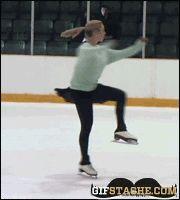 ice skating fail into ice gif   Figure Skating Fail