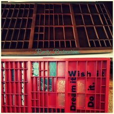 Printers tray before and after Rarity, Printers, Restoration, Tray, Trays, Board