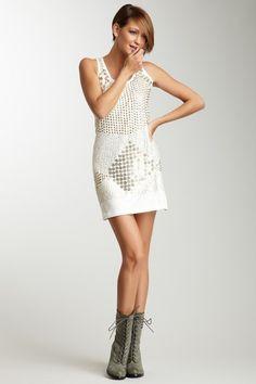 Nailhead Tank Dress