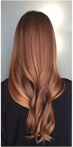 Sun Kissed Auburn Hair