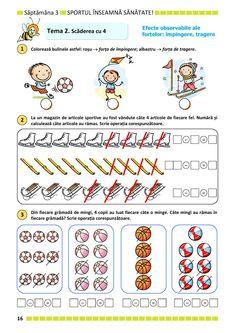 Clasa Pregătitoare : Matematică și explorarea mediului pentru clasa pregătitoare. Partea II Kindergarten Math Activities, Paper Trail, After School, Montessori, Word Search, Words, Sour Cream, 1st Grades, Horse