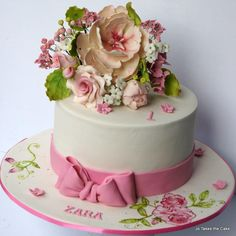 Zara's Flowers - Cake by Jo Finlayson (Jo Takes the Cake)