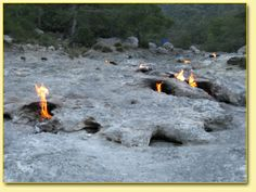 Chimaera natural eternal flame near Olimpos, Turkey