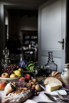 This baroque-inspired food photography reminded me of the Northern European (Flemish) still life paintings.
