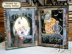 tim holtz - 2016 halloween inspiration series… project by: audrey pettit. tutorial on his website.