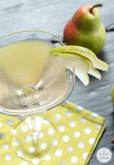 Pear Martini - a perfect treat for fall!