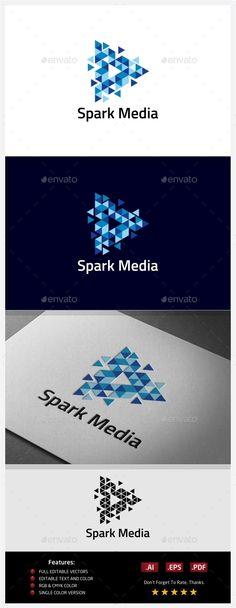Spark Media Logo — Vector EPS #digital #network • Available here → https://graphicriver.net/item/spark-media-logo/10406553?ref=pxcr