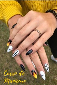 Nailart 57 Top Nail Designs This Fall - - - Malibu Best Acrylic Nails, Summer Acrylic Nails, Acrylic Nail Designs, Summer Nails, Spring Nails, Acrylic Art, Stylish Nails, Trendy Nails, Edgy Nails