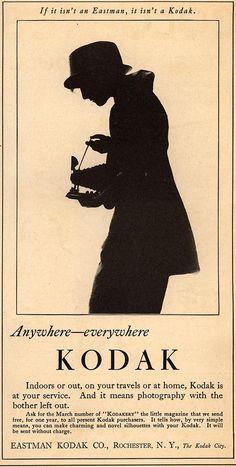 "1920 ""Woman's Home Companion"" ad. Anywhere—everywhere Kodak."