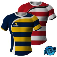 Different Reversible pattern or colour on both sides of the Rugby Shirt.  Scorpion Sports · Rugby Design 5ca6153af