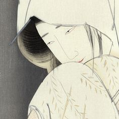 The Heron Maiden is one of those old stories about the uncanny which is richly allusive and replete with mythical associations. Japanese Illustration, Illustration Art, Illustrations, The White Album, The Uncanny, Japan Style, Japan Fashion, Woodblock Print, Heron