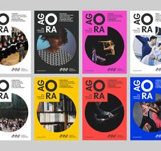 Agora – Brand design & wayfinding Graphéine – Dynamic identity for The Agora cultural centre in Limonest, 2018 Web Design, Graphic Design Trends, Graphic Design Posters, Graphic Design Inspiration, Layout Design, Logo Design, Brand Design, Circle Graphic Design, Graphic Design Layouts